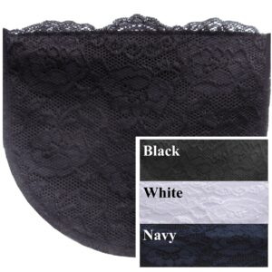 Sets of Soft Poly Modesty Panels with lace overlay